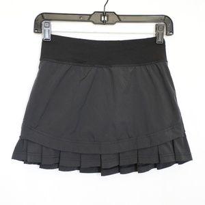 Ivivva by Lululemon Girl's Black Ruffle Skirt 10